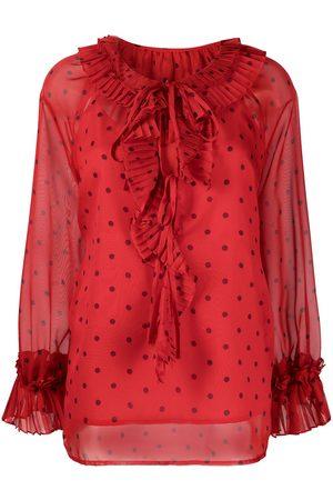P.a.r.o.s.h. Ruffled polka dot blouse