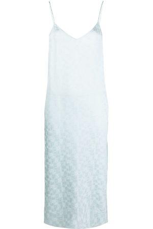 Palm Angels Monogram-print slip dress