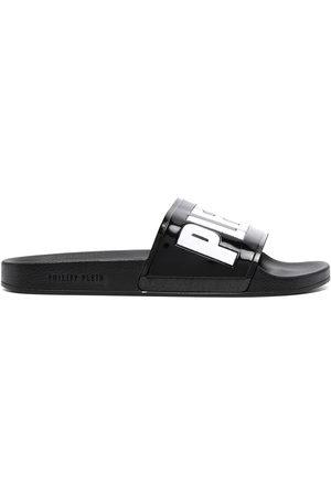 Philipp Plein Herren Sandalen - Logo-print sandals