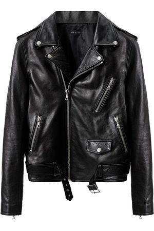 JOHN ELLIOTT Herren Lederjacken - Zipped biker jacket