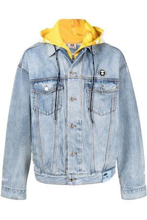 AAPE BY A BATHING APE Hood-layer denim jacket