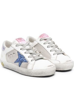 Golden Goose Signature star-patch lace-up sneakers