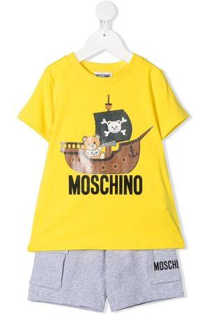 Moschino Teddy pirate-print short set