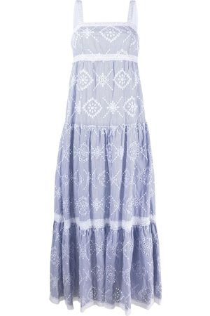 Twin-Set Broderie anglaise maxi dress