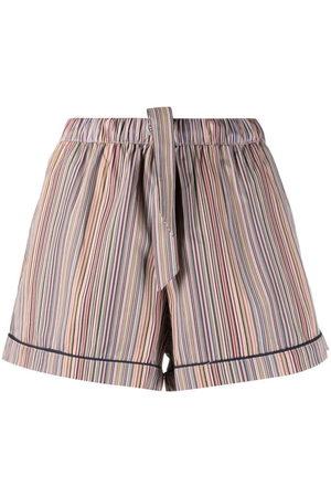 Paul Smith Stripe-print drawstring-waist shorts