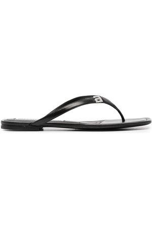 Alexander Wang Damen Sandalen - Crystal embellished logo sandals
