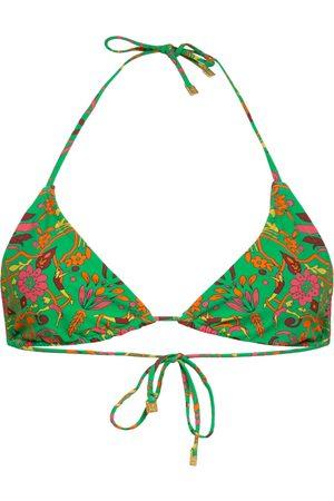 Tory Burch Triangel-Bikini-Top gruen