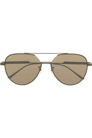Bottega Veneta Aviator-frame tinted sunglasses