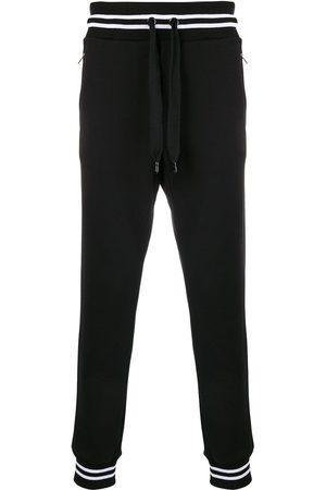 Dolce & Gabbana Herren Jogginghosen - Striped rib track trousers
