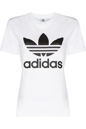 adidas Damen Kurze Ärmel - Logo-print short-sleeve T-shirt
