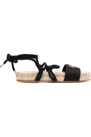 Serafini Logo-embellished espadrille sandals