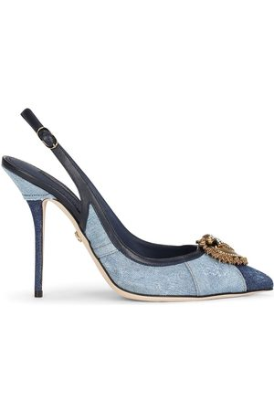 Dolce & Gabbana Damen Pumps - Devotion 60mm denim slingback pumps