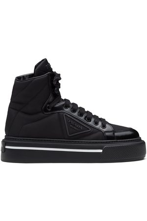 Prada High-top tonal panel sneakers
