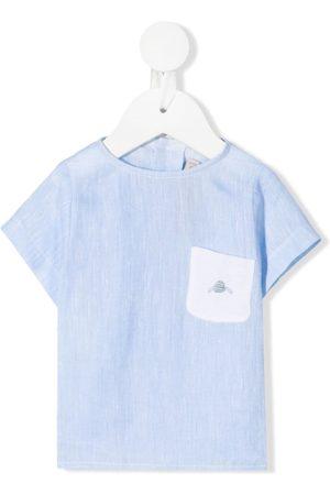 La Stupenderia Shirts - Chest pocket linen T-shirt