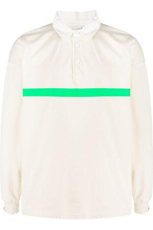 MACKINTOSH Contrast-stripe long-sleeve polo shirt