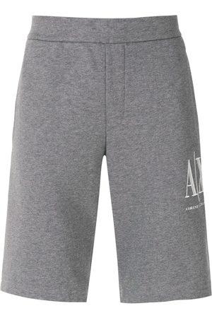 Armani Herren Kurze Hosen - Logo-embroidered track shorts