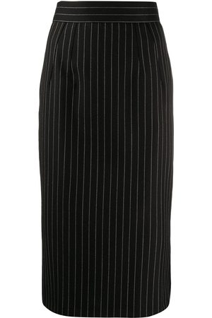 Dolce & Gabbana Pinstriped fitted midi skirt