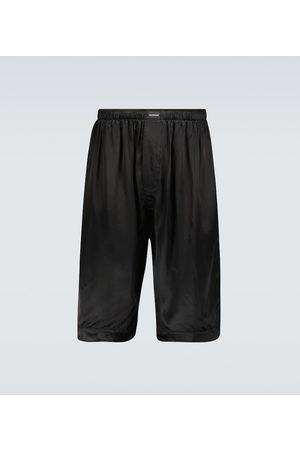 Balenciaga Pyjama-Shorts aus Satin