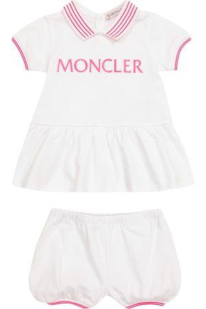 Moncler Baby Set aus Kleid und Höschen aus Baumwolle