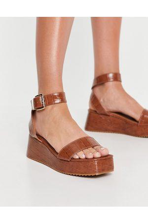 ASOS Tatiana flatform sandals in natural-Neutral