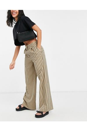 ASOS Slouchy dad suit trouser in heritage check-Multi