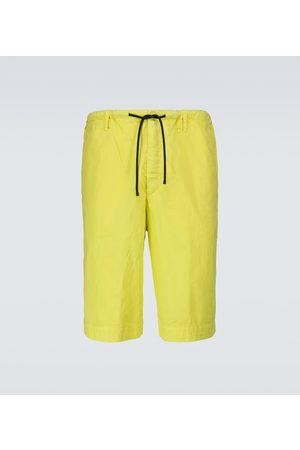 DRIES VAN NOTEN Shorts mit weitem Bein aus Baumwolle