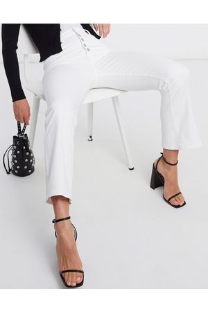 J Brand Lillie High Rise Cropped Flare Jean in white