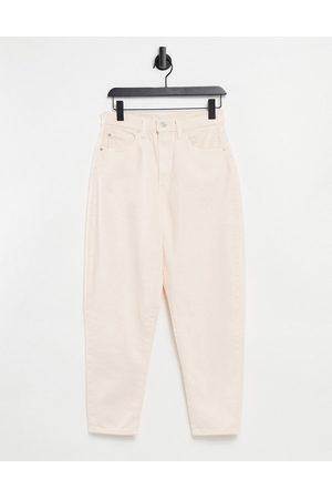 Levi's Levi's high loose tapered leg jeans in ecru-Cream