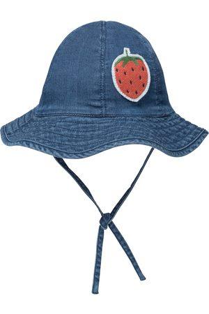 Mini Rodini Mütze Strawberry aus Denim