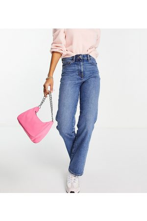 COLLUSION Damen Straight - X005 90s straight leg jean in mid wash blue