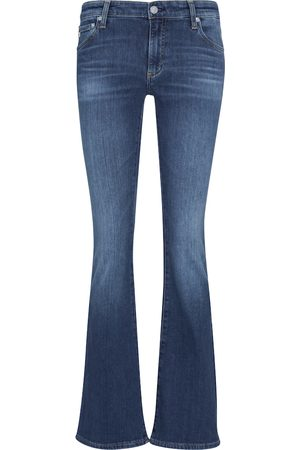 AG Jeans Low-Rise Flared Jeans