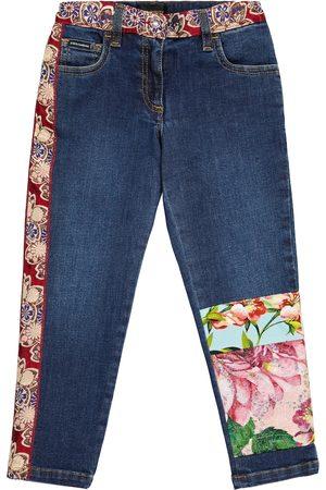 Dolce & Gabbana Jeans aus Denim mit Brokat