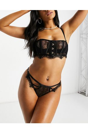 Ann Summers Limelight front fastening sheer lace bra in black