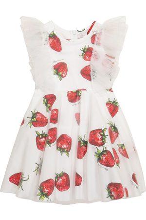 MONNALISA Kleid aus Baumwolle und Tüll