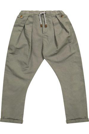 Brunello Cucinelli Hose aus Leinen und Baumwolle
