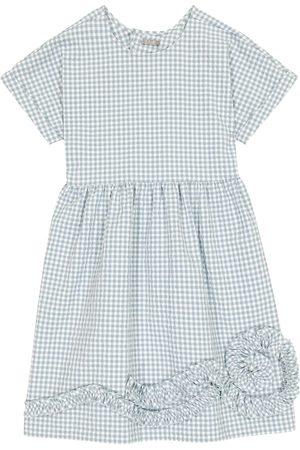 Il gufo Kariertes Kleid aus Seersucker