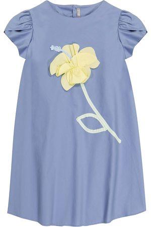 Il gufo Besticktes Kleid aus Baumwolle