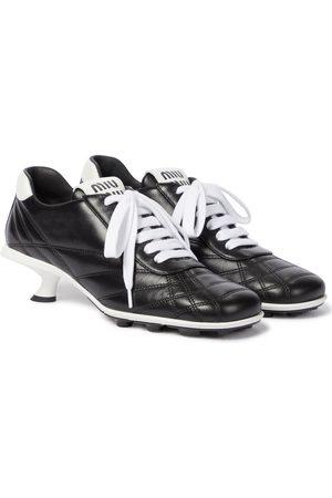 Miu Miu Sneaker-Pumps aus Leder