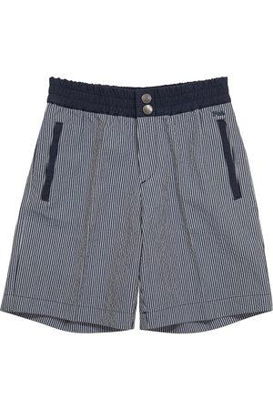 Emporio Armani Gestreifte Shorts aus Baumwolle