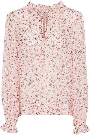 Ganni Bedruckte Bluse aus Georgette