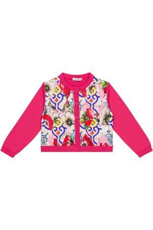 Dolce & Gabbana Baby Cardigan aus Baumwolle und Seide