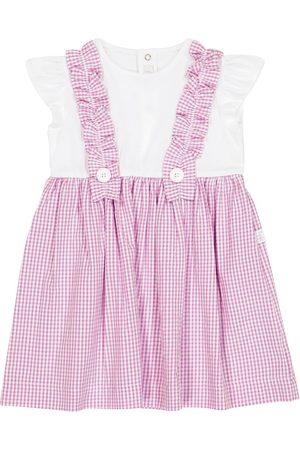 Il gufo Baby Kariertes Kleid aus Baumwolle
