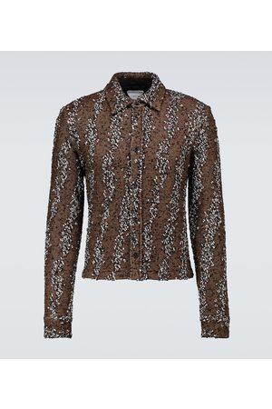 Bottega Veneta Gemusterte Hemdjacke aus Jersey