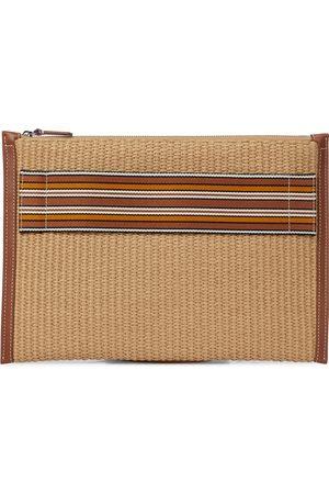 Loro Piana Clutch The Suitcase Stripe