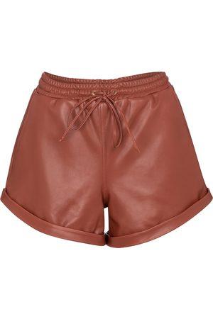 Zeynep Arcay Shorts aus Leder