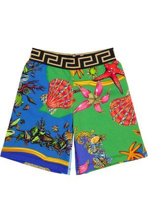 VERSACE Bedruckte Shorts aus Baumwolle
