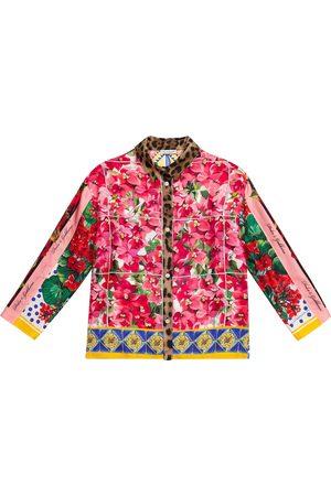 Dolce & Gabbana Bedruckte Bluse aus Seiden-Twill