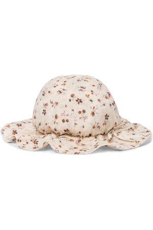 Caramel Bedruckter Hut Marlin aus Baumwolle
