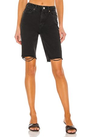 Paige Robbie High Rise Short in - Black. Size 23 (also in 24, 25, 26, 27, 28, 29, 30).