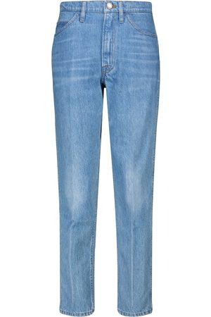 Frame High-Rise Straight Jeans Le Italien
